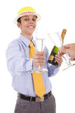 De eerste toost in 2009 Stock Afbeeldingen