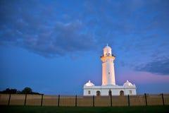 De eerste vuurtoren van Macquarie in Australië, Sydney   Stock Afbeeldingen