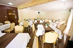 De eetkamer van het hotel Stock Afbeelding