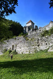 12de eeuw geruïneerd Kamen Castle Royalty-vrije Stock Foto
