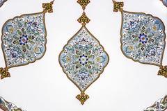 14de Eeuw, Historische Islamitische decoratie Stock Afbeeldingen