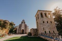 de 15de eeuw Servisch Orthodox klooster Tvrdos, Trebinje, Bosni?-Herzegovina royalty-vrije stock fotografie
