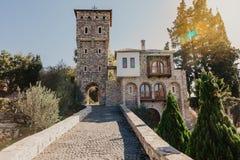 de 15de eeuw Servisch Orthodox klooster Tvrdos, Trebinje, Bosni?-Herzegovina stock afbeelding