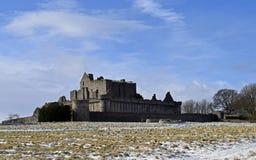 De eeuw van het Craigmillarkasteel a14th en werd als film gebruikt voor Outlander en de Ballingskoning die wordt geplaatst Royalty-vrije Stock Foto's