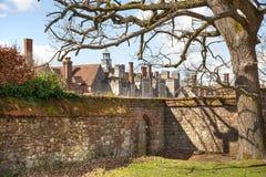 15de eeuw van het Sevenoaks de Oude Engelse herenhuis Het klassieke Engelse zijhuis van het land het UK Royalty-vrije Stock Afbeeldingen