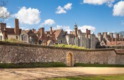 15de eeuw van het Sevenoaks de Oude Engelse herenhuis Het klassieke Engelse zijhuis van het land het UK Royalty-vrije Stock Foto's