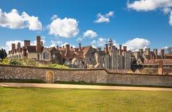 15de eeuw van het Sevenoaks de Oude Engelse herenhuis Klassiek Engels plattelandshuis Stock Afbeelding
