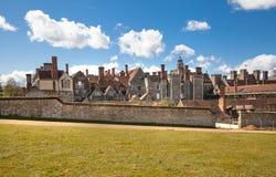 15de eeuw van het Sevenoaks de Oude Engelse herenhuis Klassiek Engels plattelandshuis Royalty-vrije Stock Foto's