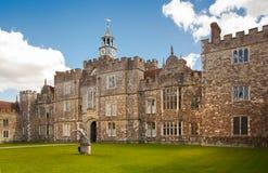 15de eeuw van het Sevenoaks de Oude Engelse herenhuis Klassiek Engels plattelandshuis Royalty-vrije Stock Afbeelding