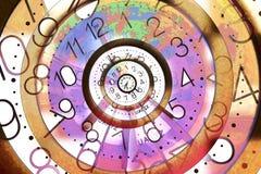 De eeuwige Achtergrond van de Tijd Stock Afbeelding