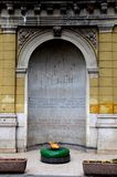 De Eeuwige Vlam of vatra van Na van VjeÄ  gewijd aan slachtoffers van Wereldoorlog Twee Sarajevo Bosnië Hercegovina Royalty-vrije Stock Foto's