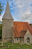 De de 14de eeuwkerk in het dorp van Alciston royalty-vrije stock afbeeldingen