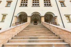 de 17de eeuwpaleis van de Bischoppen van Krakau in Kielce, Polen Royalty-vrije Stock Fotografie