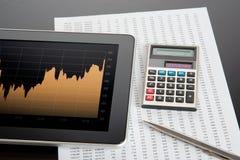 De Effectenbeurs analyseert Stock Afbeelding