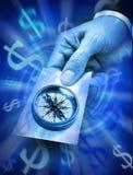 De Effectenbeurs Kompas van het bedrijfs van de Richting Stock Foto