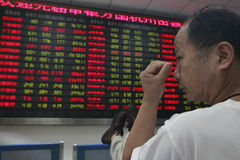 De effectenbeursneerstorting van China Royalty-vrije Stock Afbeelding