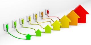 De efficiencyconcept van de energie royalty-vrije illustratie