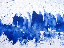 De Egeïsche Blauwe Achtergrond van de Waterverf Royalty-vrije Stock Foto