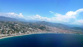 In de Egeïsche kust snakken honderden kilometers en gouden zand Stock Foto