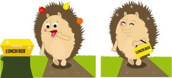 De egel vond lunchbox vector illustratie