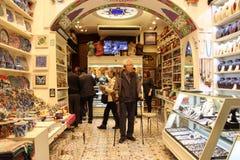 De Egyptische Bazaar van het Kruid in Istanboel, Turkije Royalty-vrije Stock Foto