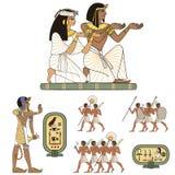 De Egyptische hiëroglief en de symbolAncient cultuur zingen en symbool vector illustratie