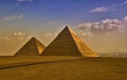 De Egyptische piramides Royalty-vrije Stock Foto's