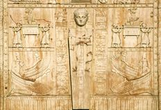 De Egyptische poorten in St. Petersburg Stock Afbeelding