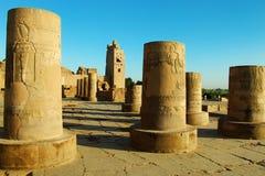 De Egyptische tempel van Com Ombo Stock Foto's