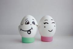 De eieren heeft het hoofd van liefde weggehaald Royalty-vrije Stock Foto's