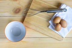 De eieren met zwaaien en lege ornagekom Stock Fotografie