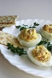 De Eieren van bacondeviled Stock Foto's
