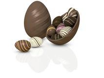 De Eieren van de chocolade Stock Foto
