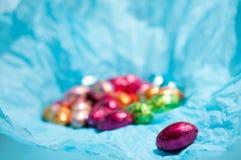 De eieren van de chocolade Royalty-vrije Stock Foto's