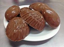 De eieren van de chocolade Royalty-vrije Stock Afbeeldingen