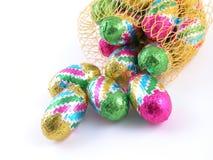 De eieren van de chocolade Stock Foto's