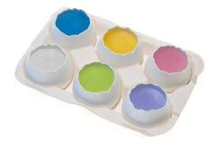 De Eieren van de Dooier van de pastelkleur Royalty-vrije Stock Afbeeldingen