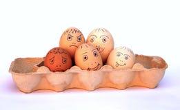 De Eieren van de kip in een Karton Stock Fotografie