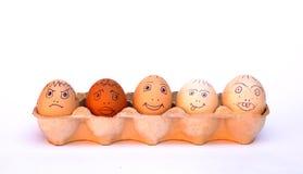 De Eieren van de kip in een Karton Stock Afbeelding