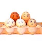 De Eieren van de kip in een Karton Royalty-vrije Stock Foto's