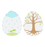 De eieren van de lente vector illustratie