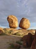 De Eieren van de steen Stock Afbeeldingen