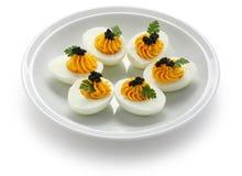 De eieren van Deviled Stock Afbeeldingen