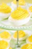 De Eieren van Deviled van Swirly Royalty-vrije Stock Fotografie