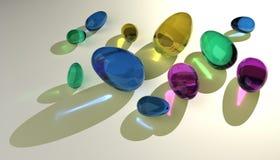 De eieren van het glas Stock Afbeelding