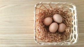 De eieren van de kip Royalty-vrije Stock Fotografie