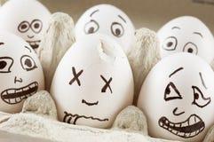 De eieren zijn doen schrikken van dode naber Royalty-vrije Stock Foto's