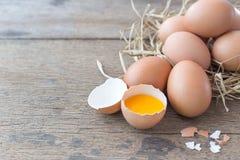 de eieren zijn natuurlijke giften Rijken in voedingsmiddelen royalty-vrije stock afbeeldingen