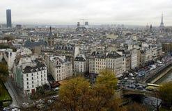 De Eiffel às excursões de Montparnasse Fotos de Stock Royalty Free