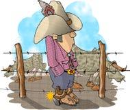 De Eigenaar van een ranch van het vee Stock Afbeelding